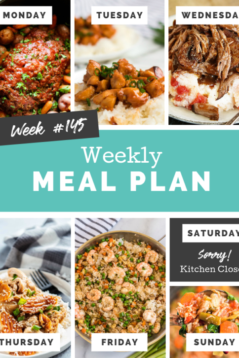 Easy Weekly Meal Plan Week 145 - Family Fresh Meals