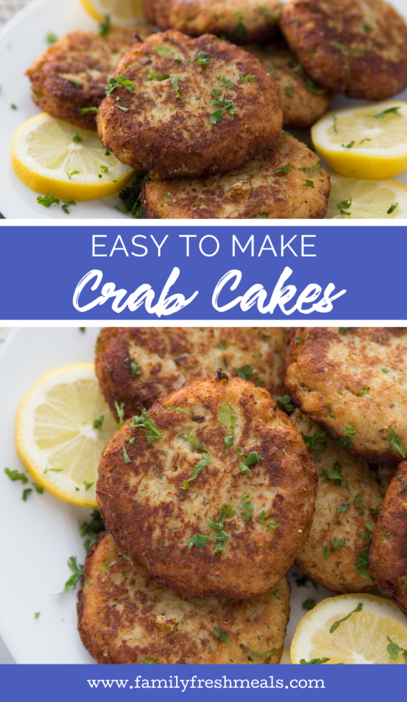 Easy Crab Cakes recipe from Family Fresh Meals