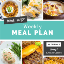 Easy Weekly Meal Plan Week 147