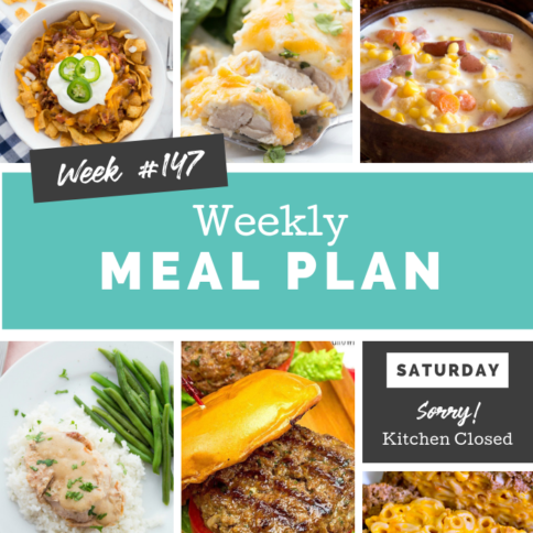 Easy Weekly Meal Plan Week 147 - Family Fresh Meals