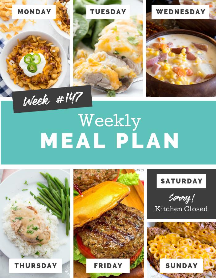 easy weekly meal plan week 147