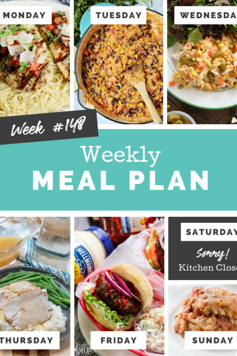 Easy Weekly Meal Plan Week 148 - Family Fresh Meals