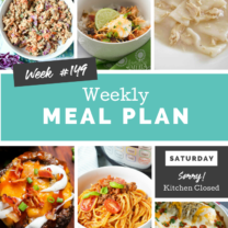 Easy Weekly Meal Plan Week 149