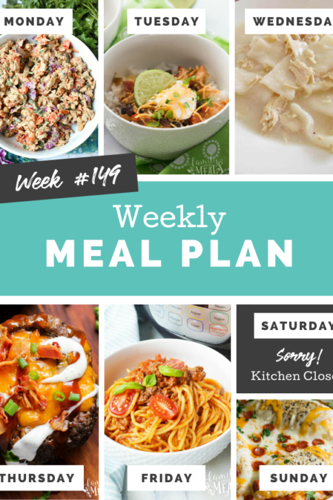 Easy Weekly Meal Plan Week 149 - Family Fresh Meals