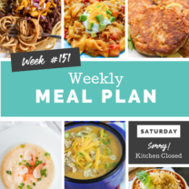 Easy Weekly Meal Plan Week 151