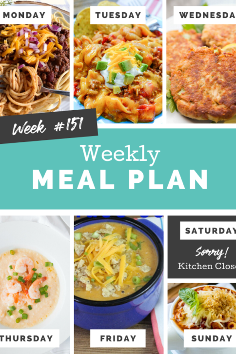 Easy Weekly Meal Plan Week 151 - Family Fresh Meals