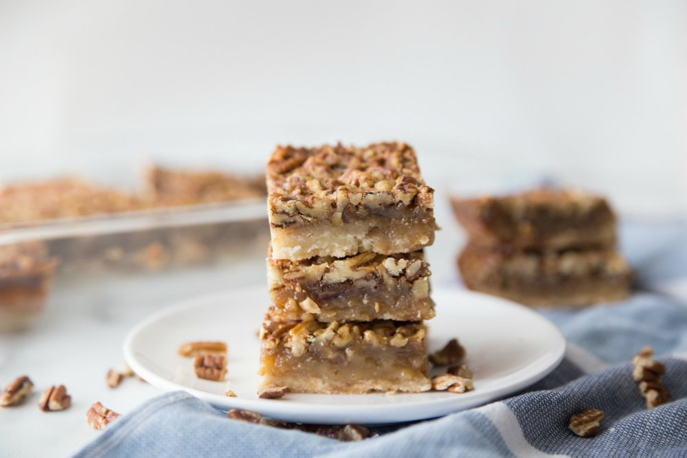 Cookie Bars stacked on a plate - Family Fresh Meals recipe
