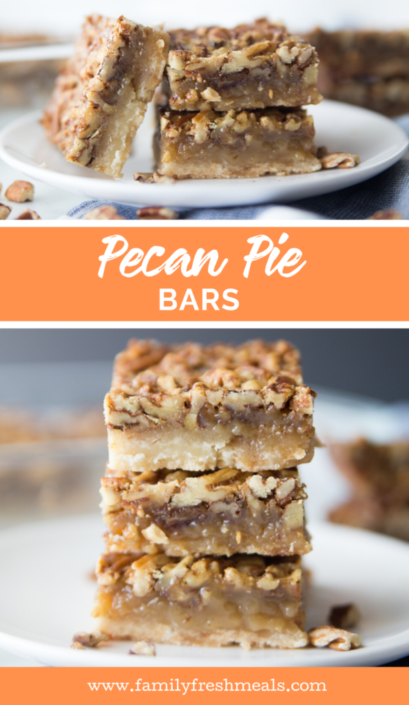 Pecan Pie Bars recipe from Family Fresh Meals