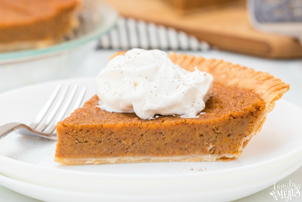 Sweet Potato Pie Recipe for Thanksgiving - Family Fresh Meals
