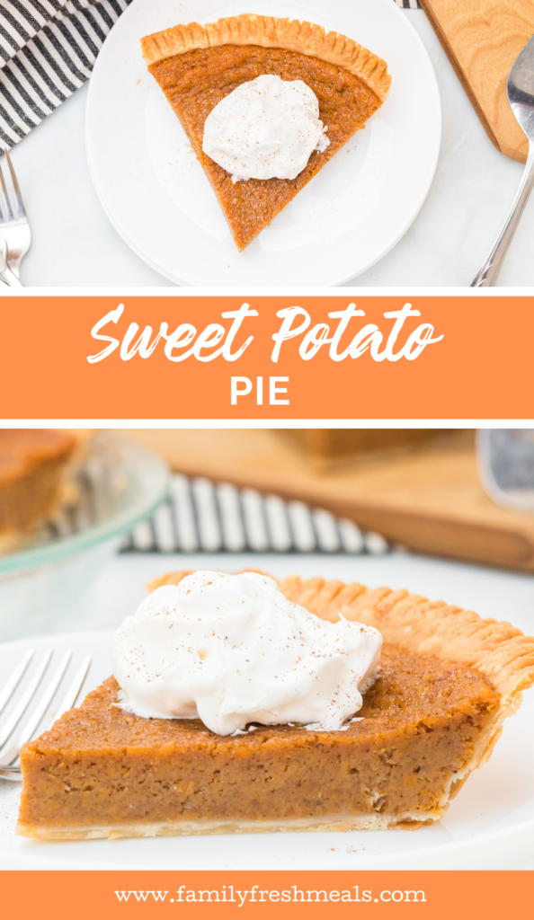 Sweet Potato Pie Recipe from Family Fresh Meals
