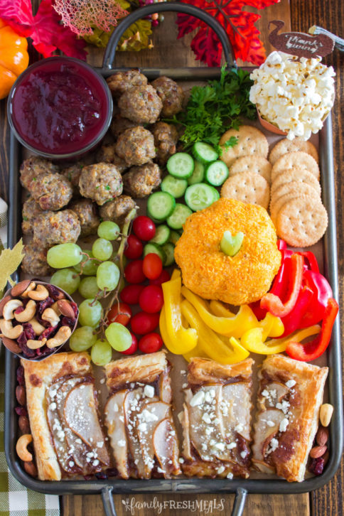 Thanksgiving Appetizer Snack Board - Family Fresh Meals