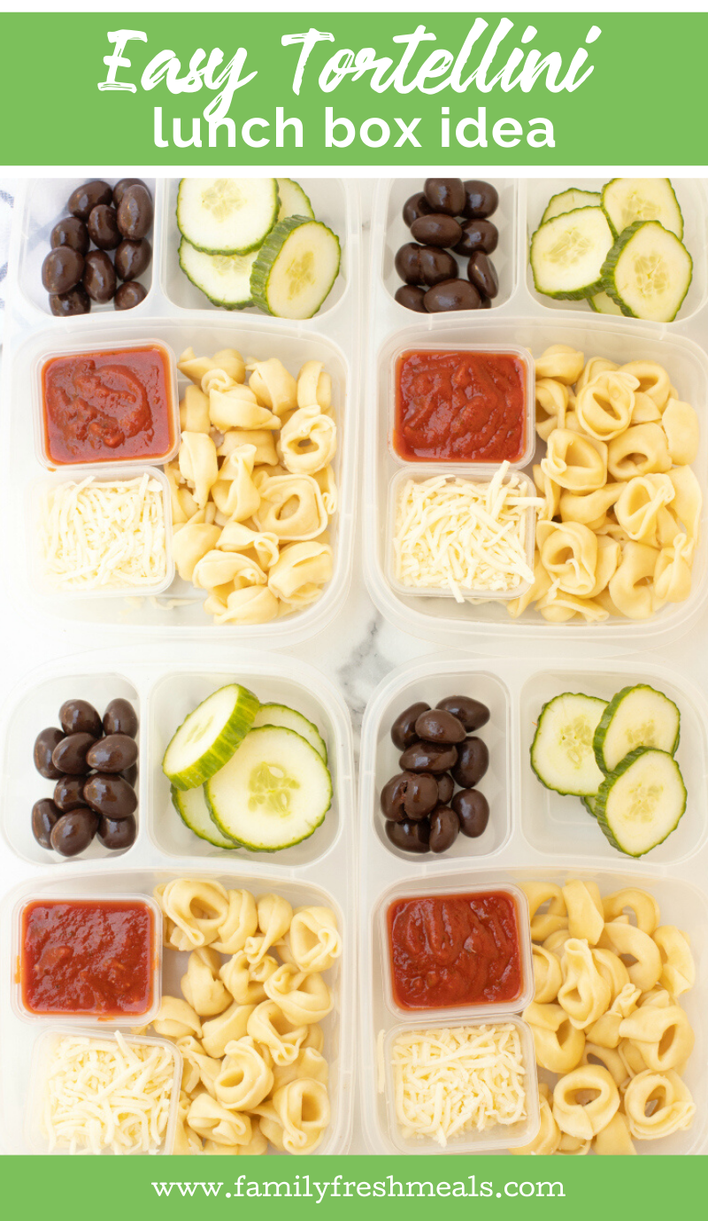 This Tortellini Easy Lunchbox Idea is perfect for work or school lunch. #easylunchboxes #familyfreshmeals #lunch #lunchbox #lunchidea #pasta #easylunch #kidapproved #worklunch via @familyfresh