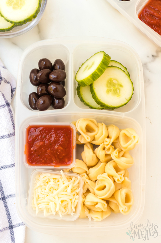 Tortellini Easy Lunchbox Idea - Yummy lunch packed in easylunchboxes containers