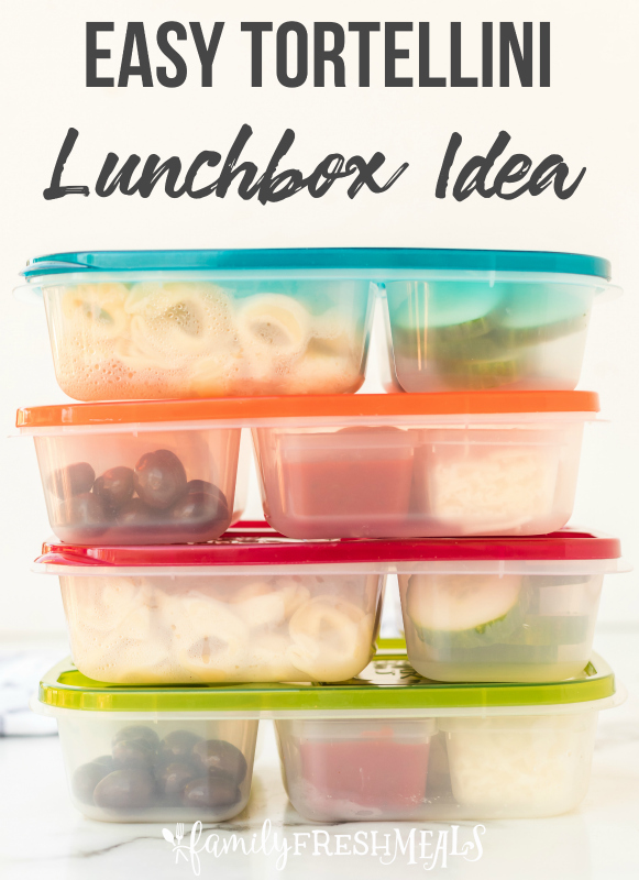 Tortellini Easy Lunchbox Idea - work or school lunch idea