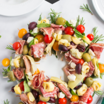 Antipasto Wreath Holiday Appetizer