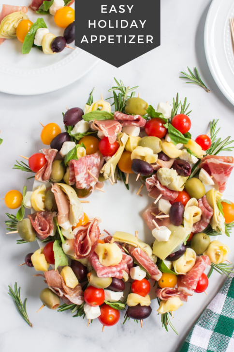 Antipasto Wreath Holiday Appetizer from Family Fresh Meals