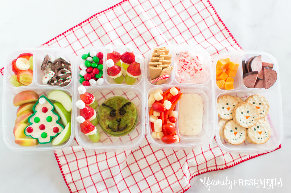 Cute Holiday Lunchbox Ideas - packed in EasyLunchboxes Containers