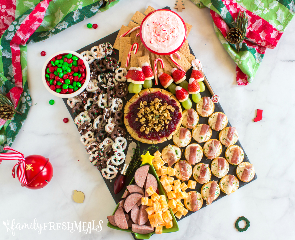 Holiday Appetizer Snack Board - Easy recipe for the holidays