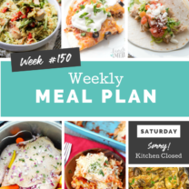 Easy Weekly Meal Plan Week 150
