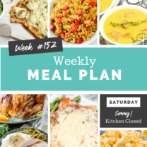 Easy Weekly Meal Plan Week 152