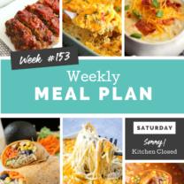 Easy Weekly Meal Plan Week 153