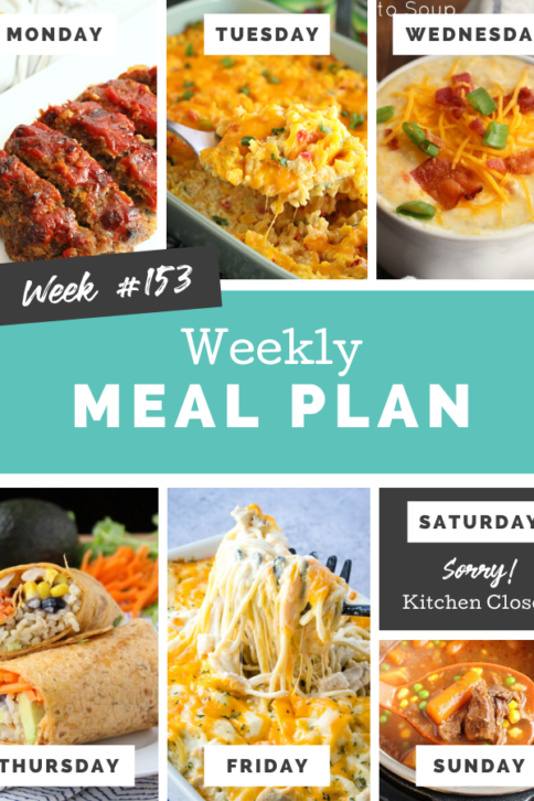 Easy Weekly Meal Plan Week 153 - Family Fresh Meals