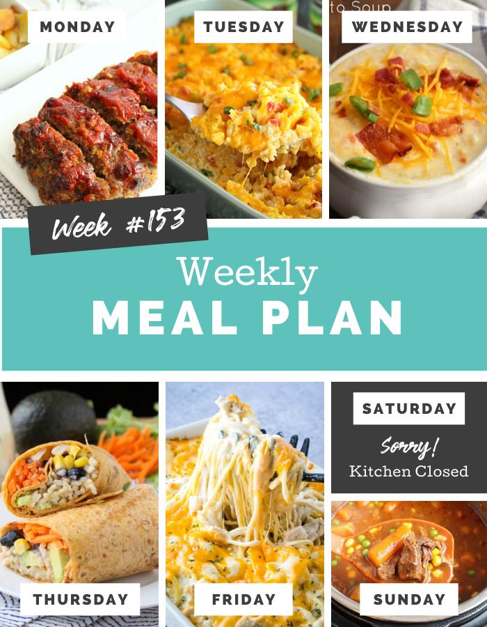 Easy Weekly Meal Plan Week 153 - Family Fresh Meals