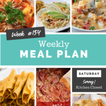 Easy Weekly Meal Plan Week 154