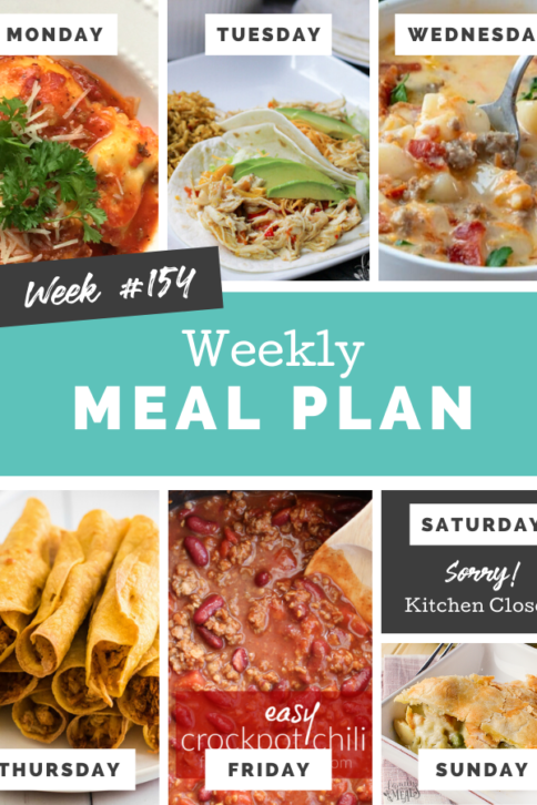 Easy Weekly Meal Plan Week 154 - Family Fresh Meals