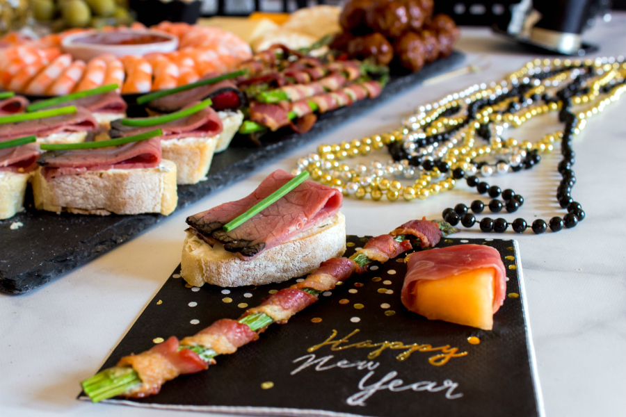 New Years Appetizer Meat and Cheese Board -- Family Fresh Meals Charcuterie Board