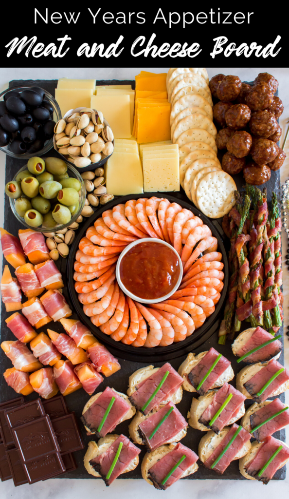 New Years Appetizer Meat and Cheese Board Recipe from Family Fresh Meals