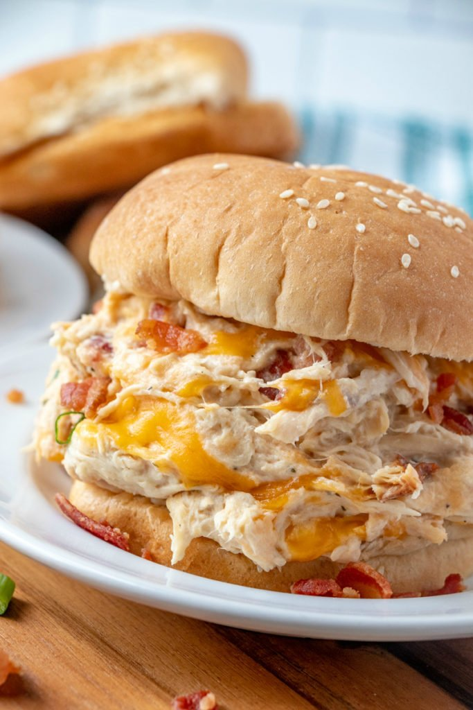 Creamy Crockpot Crack Chicken Sandwich recipe - Family Fresh Meals