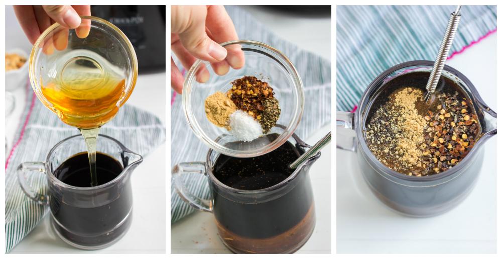 Crockpot Cashew Chicken - mixing marinade sauce