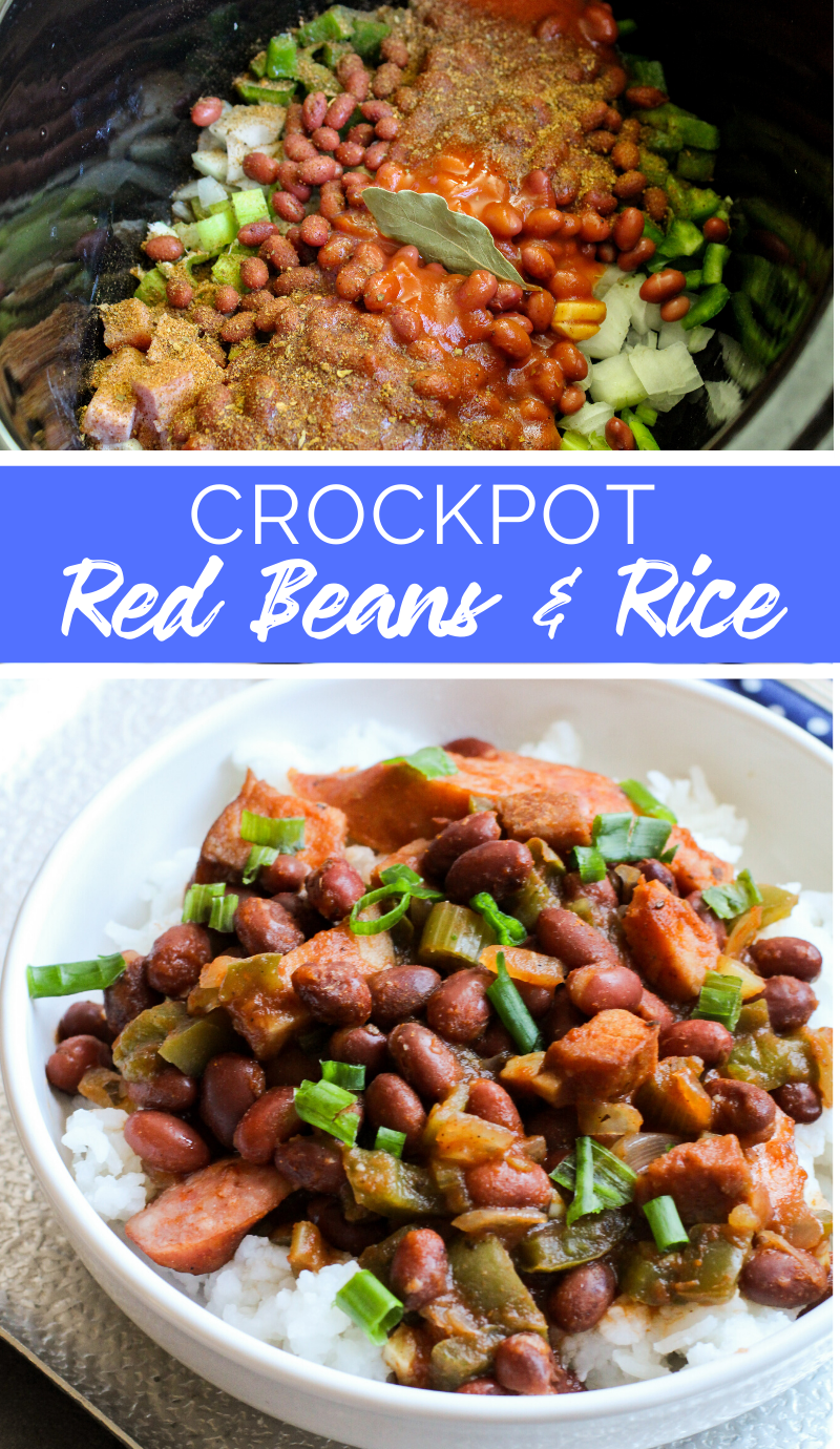 This Crockpot Red Beans and Rice recipe is a traditional Creole Louisiana style, red beans and rice recipe made easy in your slow cooker! #crockpot #redbeans #slowcooker #louisiana #rice #creole  via @familyfresh