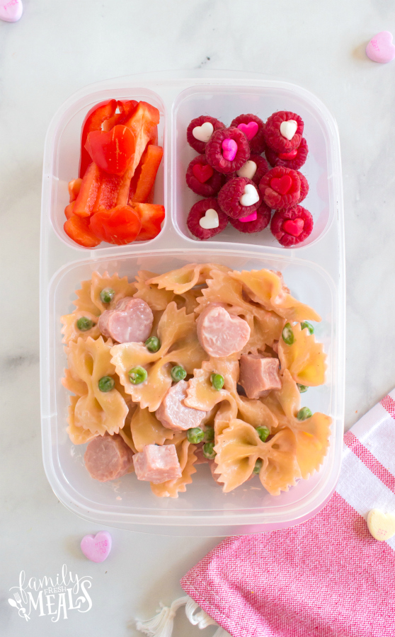 How to make Bow Tie Pink Pasta - Fun Valentines Day Lunchbox Ideas - Family Fresh Meals