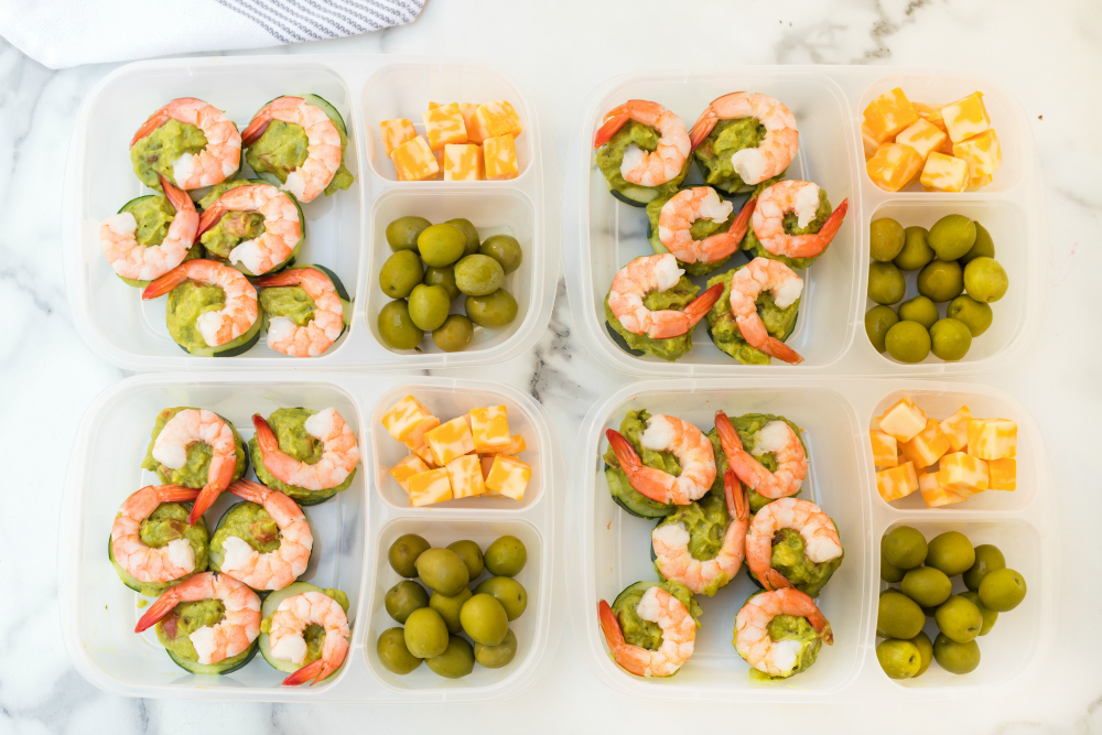 Keto Shrimp Avocado Easy Lunchbox Idea - Family Fresh Meals