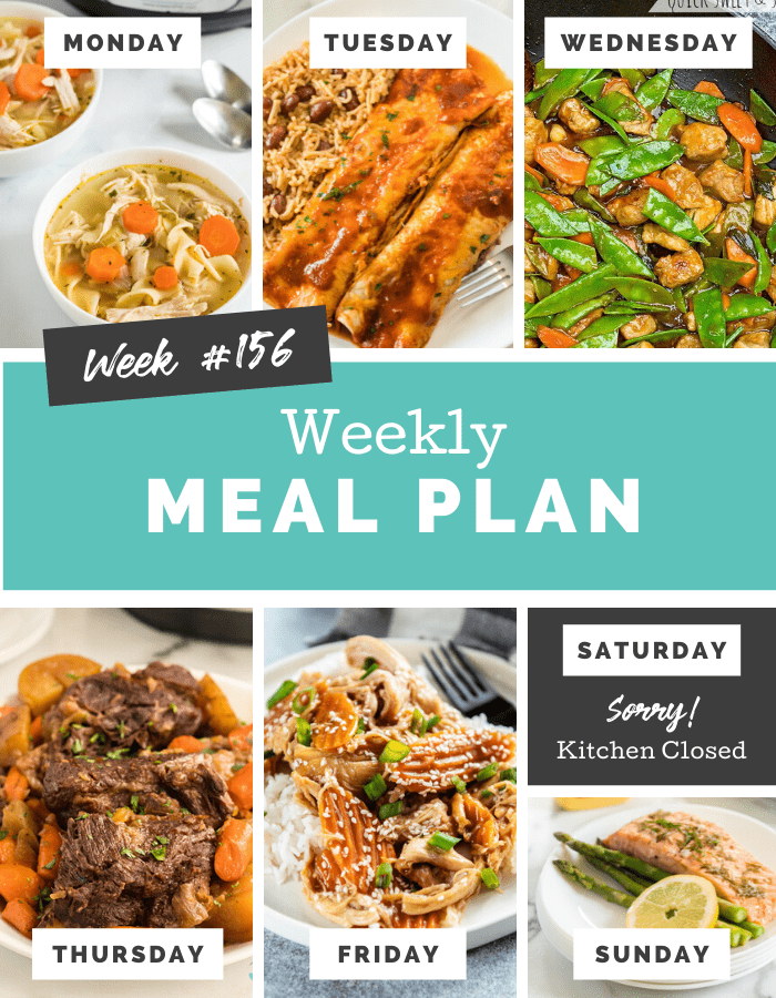 Easy Weekly Meal Plan Week 156 - Family Fresh Meals