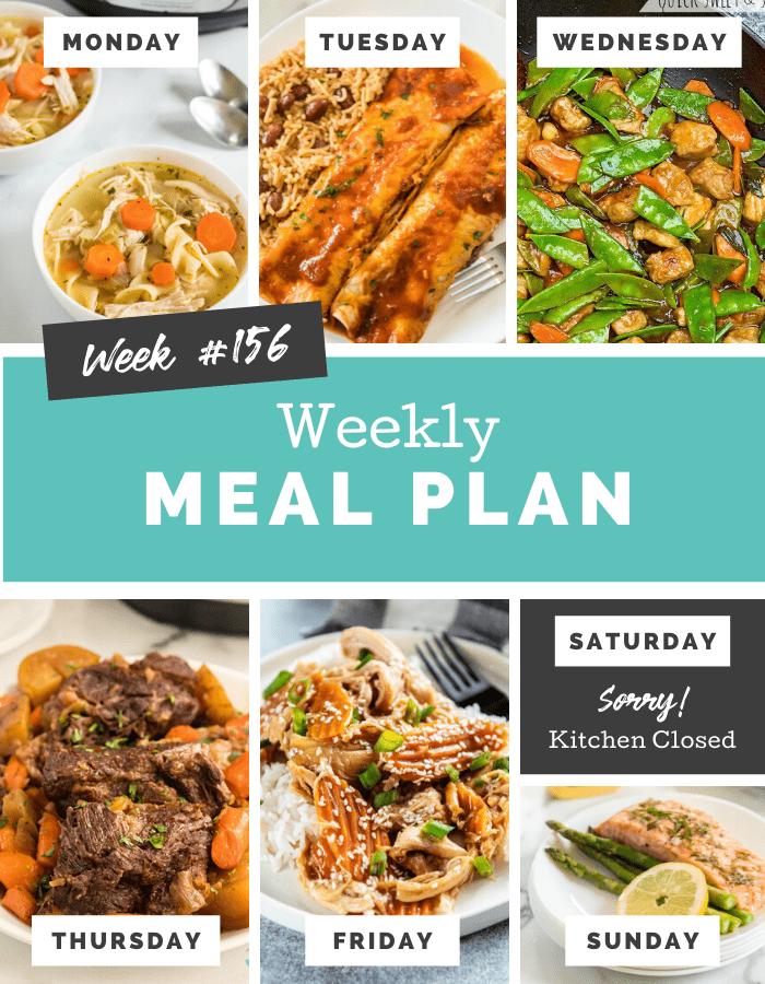 easy weekly meal plan week 156