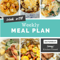 Easy Weekly Meal Plan Week 158