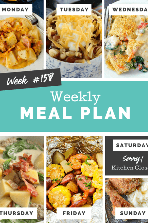 Easy Weekly Meal Plan Week 158 - Family Fresh Meals
