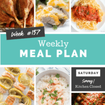 Easy Weekly Meal Plan Week 157