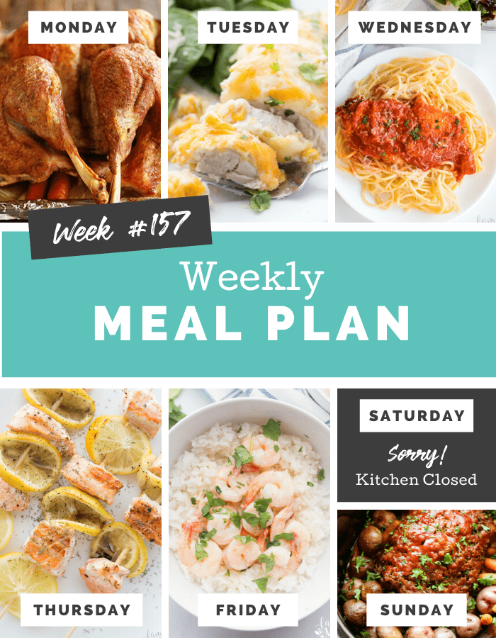 Easy Weekly Meal Plan Week 157 - Family Fresh Meals