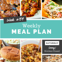 Easy Weekly Meal Plan Week 159