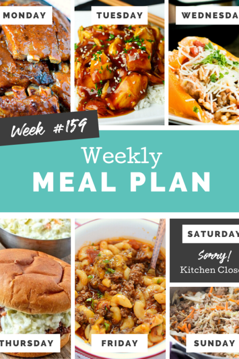 Easy Weekly Meal Plan Week 159 - Family Fresh Meals