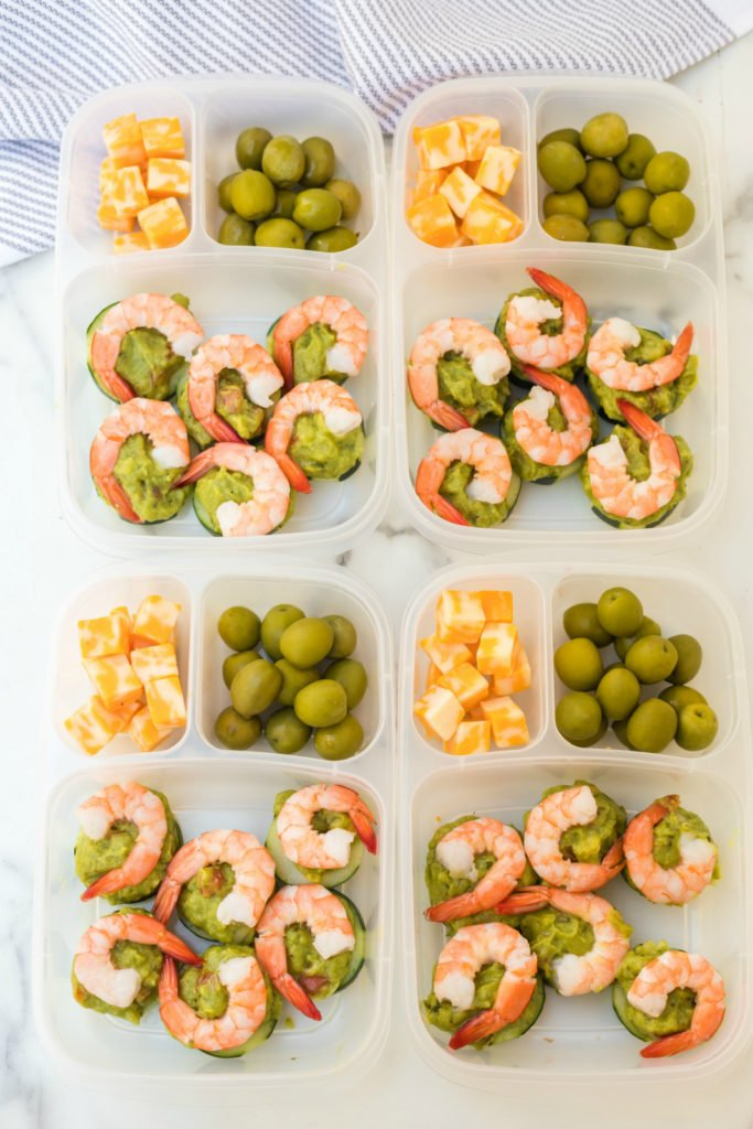 Shrimp Avocado Easy Lunchbox Idea - Family Fresh Meals
