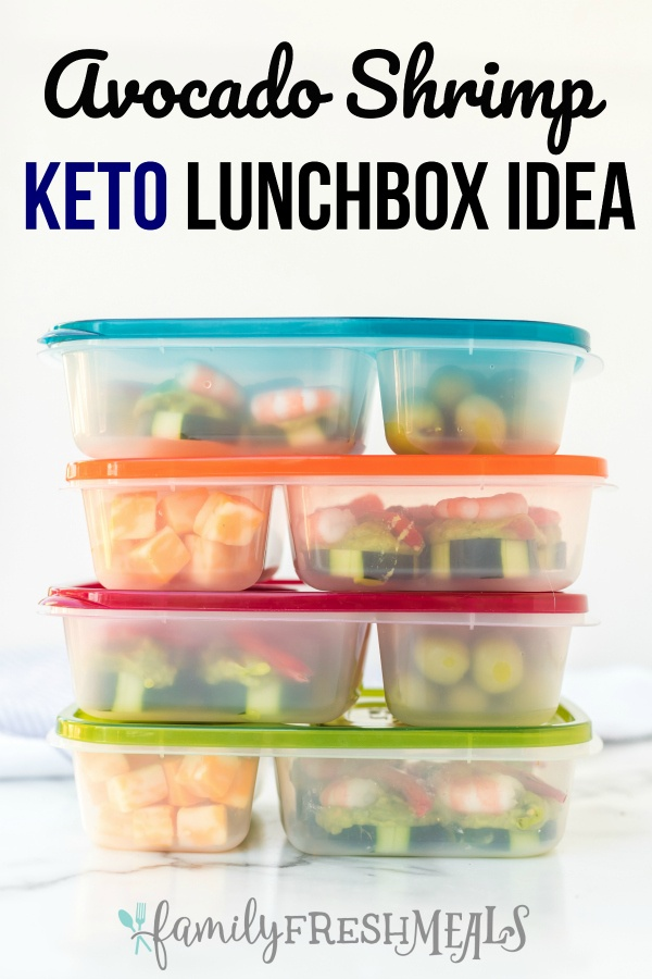 Shrimp Avocado Keto Easy Lunchbox Idea