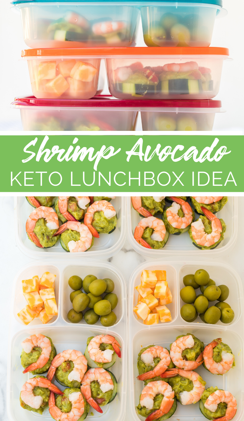 Shrimp Avocado Keto Lunchbox Idea #easylunchboxes #lunch #lunchbox #avocado #shrimp #keto #worklunch #schoollunch #healthy #healthy lunchbox #familyfreshmeals via @familyfresh