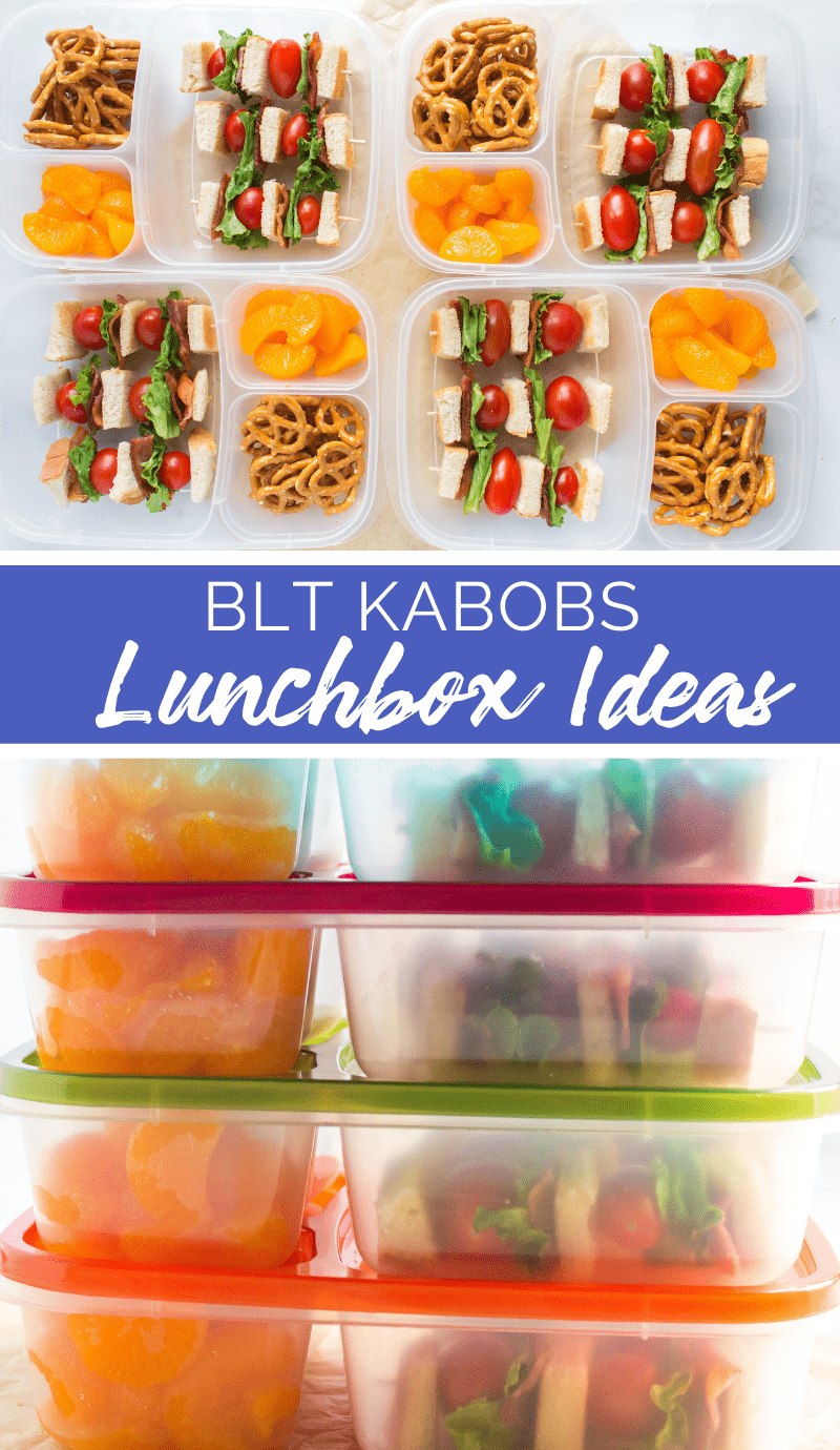 This Easy BLT Kabob Lunchbox Idea is an easy way to put some fun in your lunchbox. Turning this classic sandwich into a kabob is simple. See how! #lunchbox #easylunchboxes #lunch #blt #schoollunch #familyfreshmeals via @familyfresh