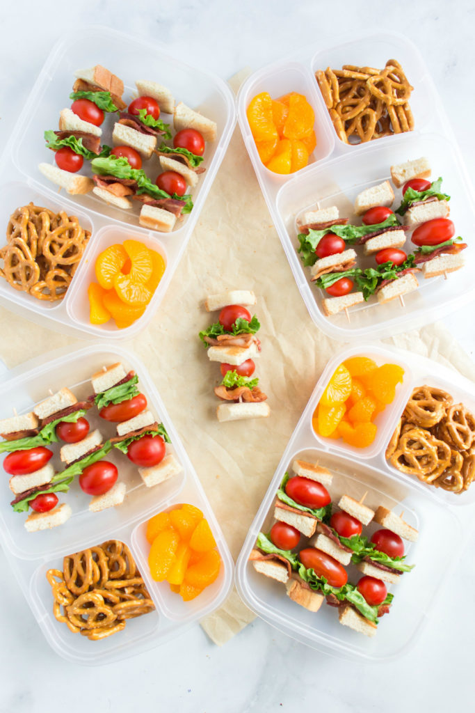 Easy BLT Kabobs Lunchbox Idea - Packed in EasyLunchboxes Family Fresh Meals