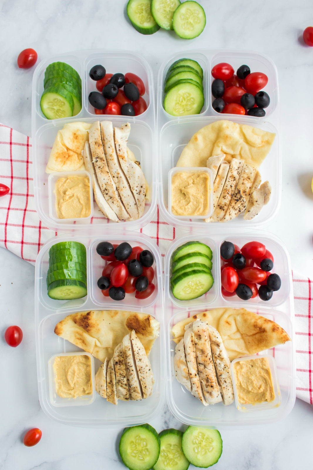 Easy Mediterranean Lunchbox Idea #easylunchboxes #healthy #hummus #familyfreshmeals #lunchbox via @familyfresh